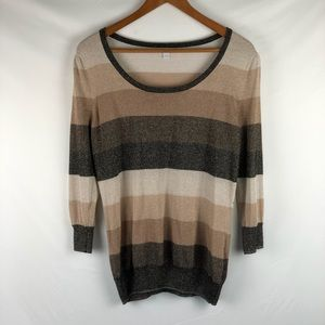 New York & Co. Tan brown shimmer sweater, size L